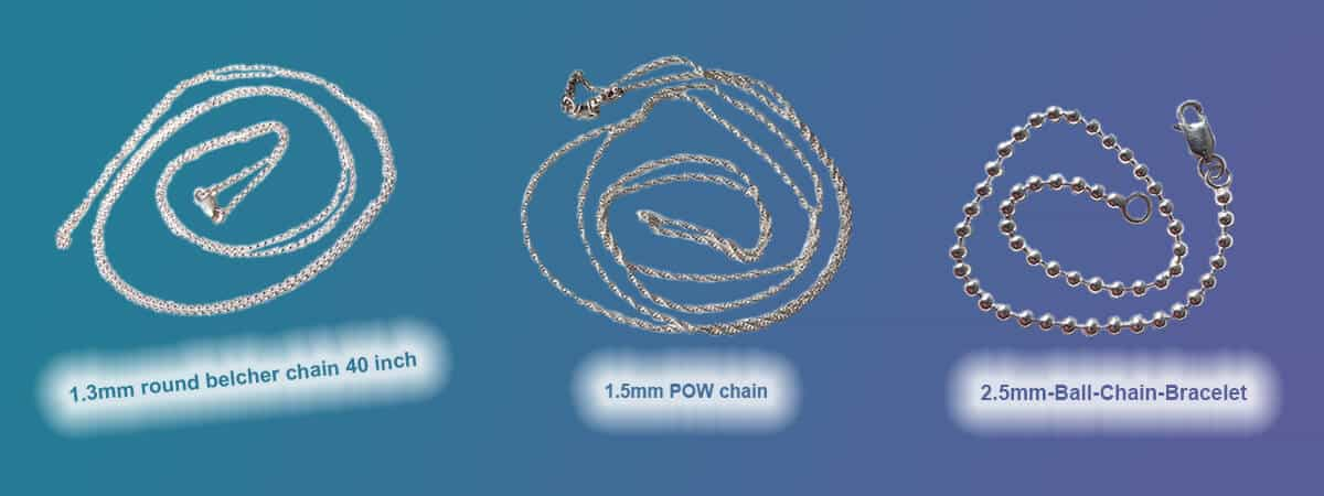 Length conversion for silver chains